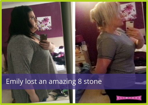 Our Latest Slimtone Success Story – Emily lost an amazing 8 stone