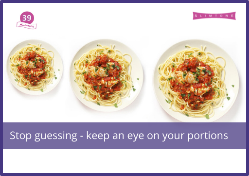 Stop guessing – keep an eye on your portions